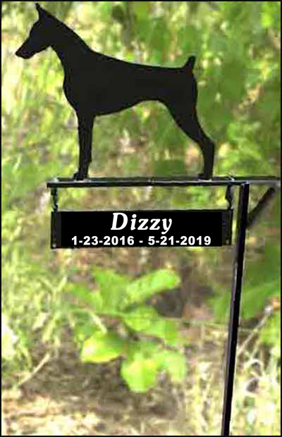 Memorial Sign Dog Breed Silhouette