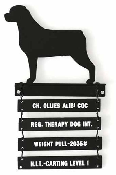 Breed Silhouette Awards Plaque with 2 Plates