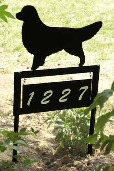 Breed Silhouette Yard Solid Address Plates