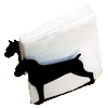Napkin or Letter Holder with 2 small breed silhouettes
