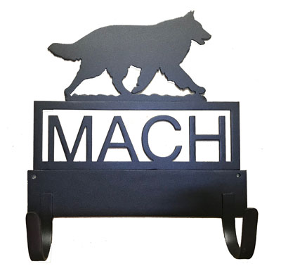 9.5 inch MACH Bar Holder with Silhouette or Agility Symbol