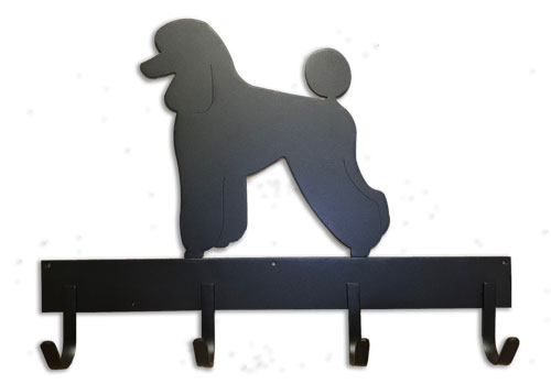 18 inch 4 Hook Leash Rack with One Breed Silhouettes