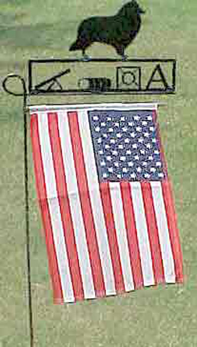 USA Flag with Your Breed or Agility, obedience or flyball symbol