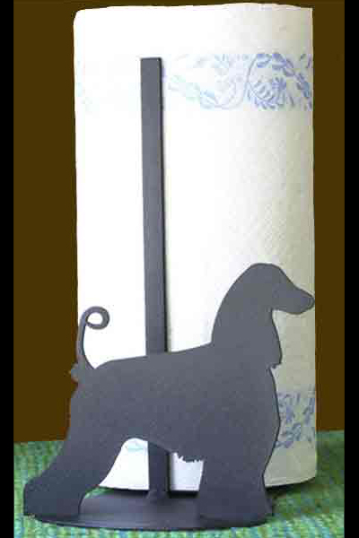 Paper Towel Holder with Breed Silhouette