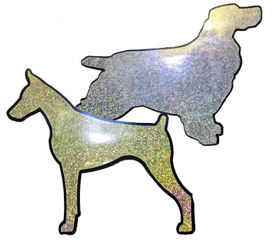 Sparkle Magnet Breed Silhouette for Car Doors (Two Colors)
