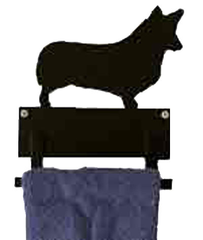 6 inch Towel Bar Dog Breed Silhouette