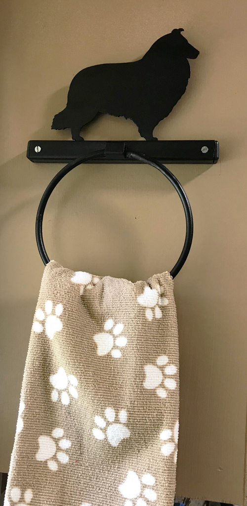Towel Holder with Breed Silhouette