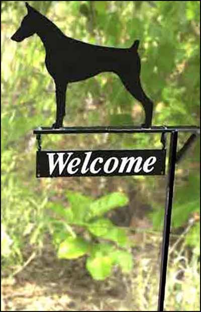 Yard Marker Breed Silhouette with Welcome Plate