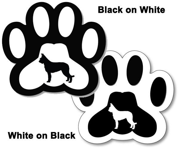 Magnet Paw with Breed 3 Inch