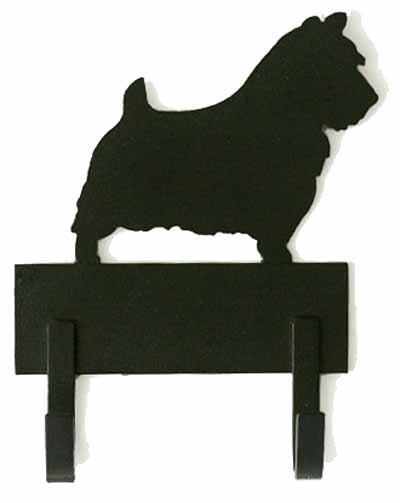 2 Hook 6 inch Breed Silhouette Leash Rack
