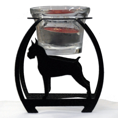 DISCONTINUED Dog Silhouette Votive Candle Holder