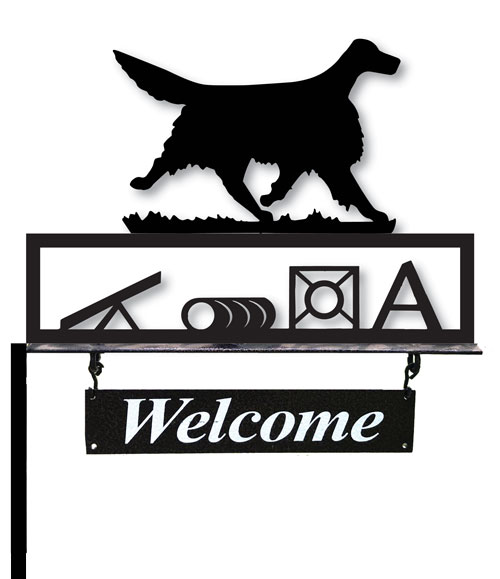Welcome Sign with Agility/Obedience/flyball